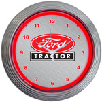 Neon Clock - Ford Tractor in Red Neon