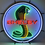 "Neon Sign - Shelby Snake 24"" White Sign With Backing"