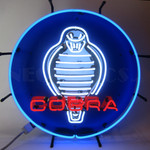 "Neon Sign - Shelby Cobra Snake 24"" With Backing"