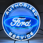 "Neon Sign - Ford Authorized Service 24"" With Backing"