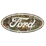 Sign - Ford Oval in Camo Embossed Tin