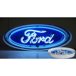 """Neon Sign - Ford Oval In Metal Can 30"""""""