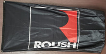 Flag - Roush Mustang Logo on Black 2' x 4'