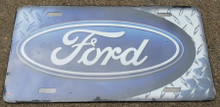 License Plate - Ford Blue Oval Tri-Bar Graphic