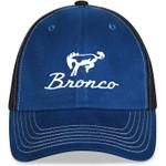 Ford Bronco Hat - Blue & Black Script Logo