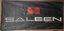 Flag - Saleen Mustang Logo on Black 2' x 4'