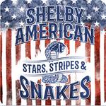"Magnet -  Shelby Stars & Stripes 4"""