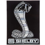 Shelby Cobra Embossed Black Snake Sign