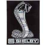 Shelby Cobra Embossed Black Snake Sign
