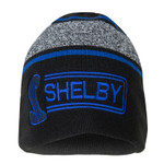 Beanie - Shelby Snake Logo - Black, Blue & Grey