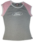 Juniors-Sized Ford Oval Gray-Pink