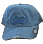 Ford Blue Oval Denim Hat - Distressed Style