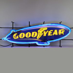 """Neon Sign - Goodyear Blimp With Backing 41"""""""