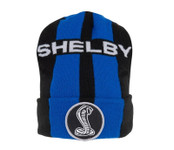 Beanie - Shelby Blue Double Stripe Black