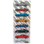 Ford Mustang 7-Car Iridescent Metal Sign