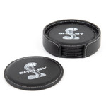 Coasters - 4-Pack Leather Shelby Snake