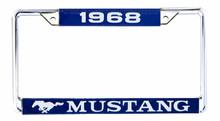 License Plate Frame - 1968 Mustang