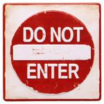 DO NOT ENTER Embossed Tin Magnet