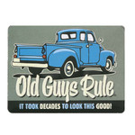 Ford Truck Old Guys Rule Embossed Tin Magnet