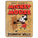 Mickey Mouse Steamboat Willie Embossed Tin Magnet