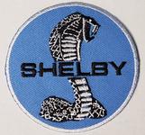"""Patch - Shelby Snake Tiffany Logo on Blue 3"""""""