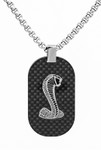Necklace - Shelby Carbon Fiber Dog Tag
