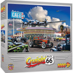 Puzzle - Crusin' Route 66 Bomber Command Cafe - 1000 Piece Mustang Jigsaw