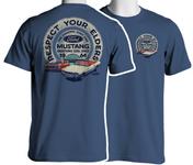 Respect Your Elders - Mustang T-Shirt in Blue