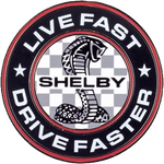 Pin - Shelby Live Fast, Drive Faster