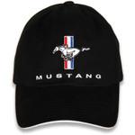 Black Mustang 2D Tri-Bar Horse Hat