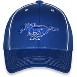Blue on Blue Mustang Running Horse Hat