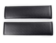 Seat Belt Shoulder Pads - Carbon Fiber Style