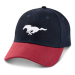 Mustang Running Horse Blue & Red Corduroy Hat