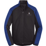 Mustang Soft Shell Jacket Black & Blue w/ Tri-Bar Logo