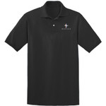 Golf Polo Shirt - Mustang Tri-Bar Logo ~ Black