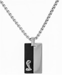 Necklace - Shelby Two-Tone Stainless Steel Dog Tag