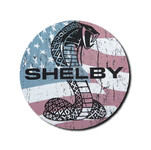 """Magnet -  Shelby Patriotic Snake Round 3.5"""""""