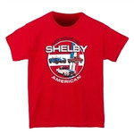 Youth Shelby American Cars Red T-Shirt