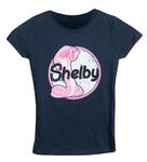 Girls Navy Shelby Cobra Mustang T-Shirt
