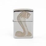 ZIPPO - Shelby Gold Cobra Snake Engraved Lighter - Chrome
