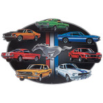 Ford, Shelby & MACH 1 Mustang 7-Car Embossed Sign