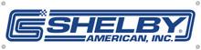 "Shelby American Vinyl Classic Logo Banner 48"" x 12"""