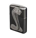 ZIPPO - Shelby Cobra Snake Engraved Lighter - Black Ice