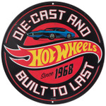 Hot Wheels Round Embossed Tin Sign