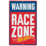 Hot Wheels RACE ZONE Embossed Tin Sign