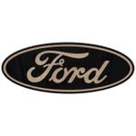Sign - Ford Oval Logo Black Wooden Sign