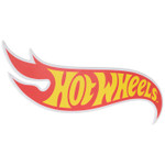 Hot Wheels Logo Wood Sign
