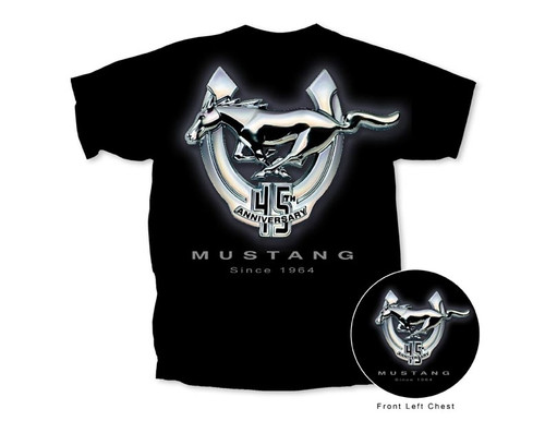 Mustang 45th Anniversary T-Shirt - Black