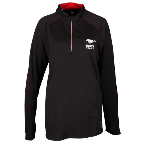 50 YEARS Mustang Ladies Black Pullover MEDIUM