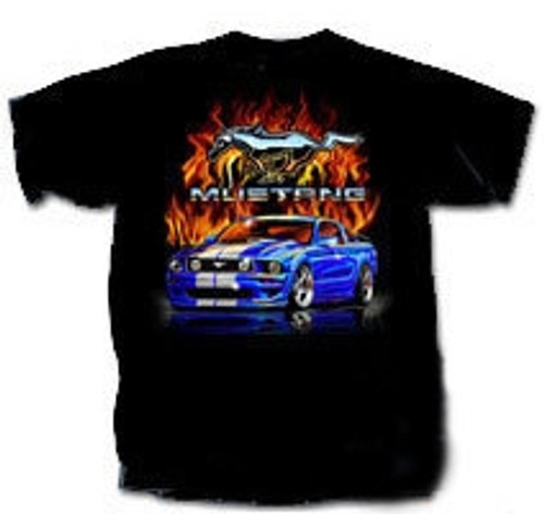 Kids - Late Model Mustang Flames T-Shirt - LAST ONE! XL